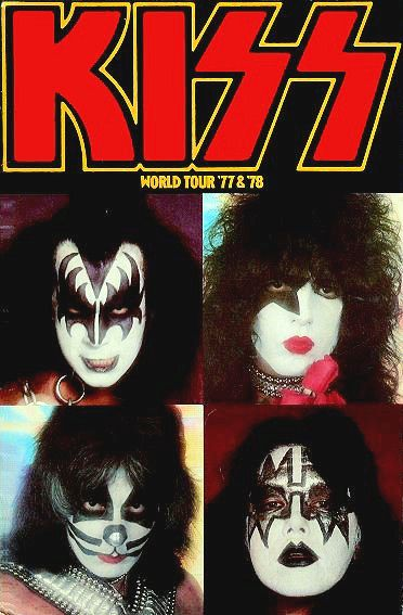 Alive Ii Tour 1977 78 Concert Program Kiss Band Kiss Rock