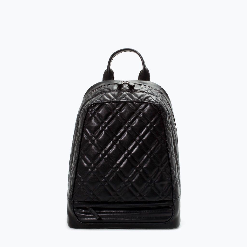 QUILTED RUCKSACK from Zara #fw2014   Bags   Pinterest   Zara shoes ... : black quilted rucksack - Adamdwight.com