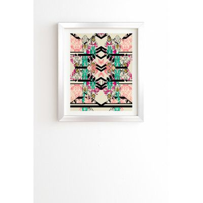 East Urban Home Austin Sun by Pattern State Framed Graphic Art ...
