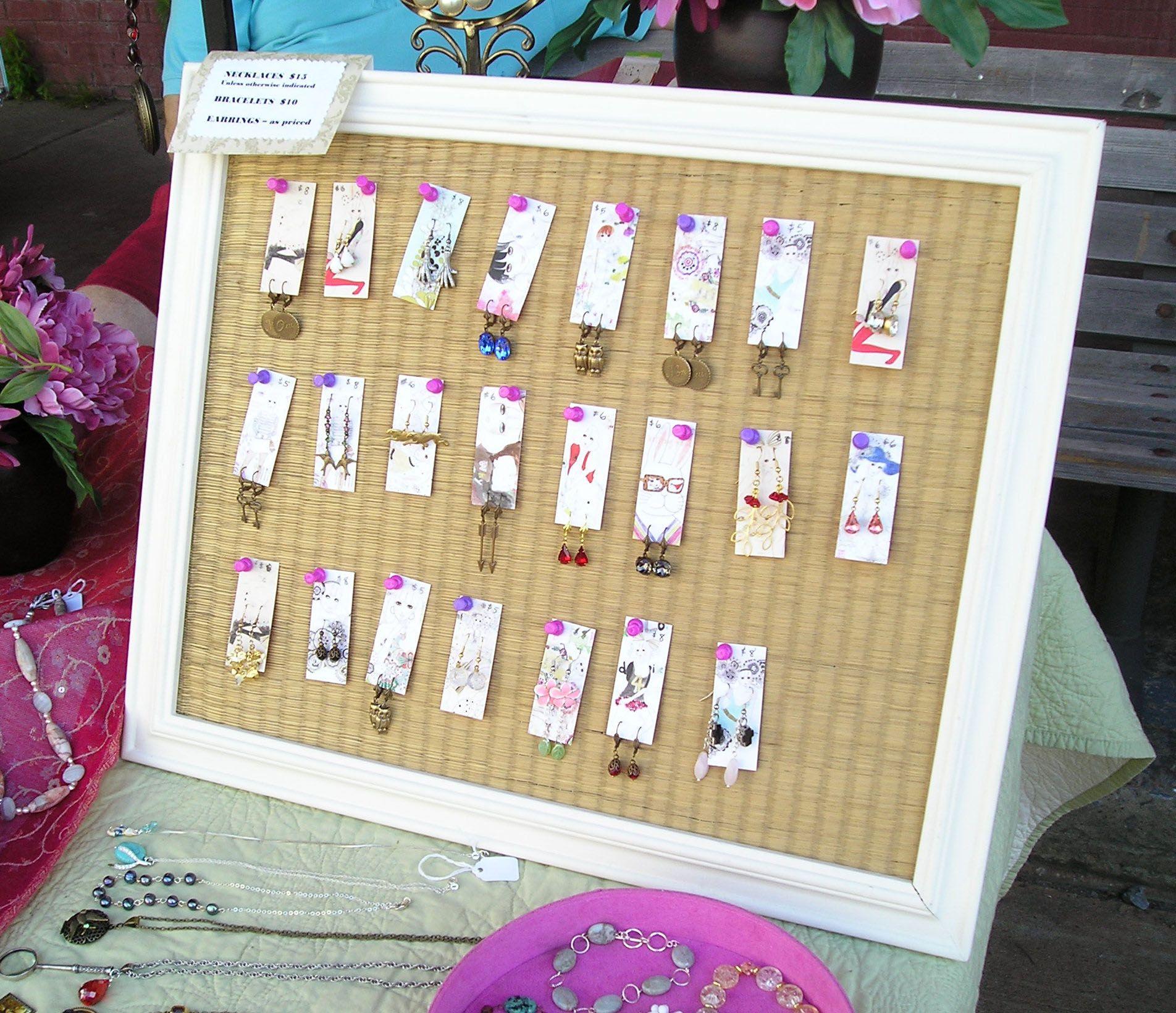 Make Your Own Jewellery Display Board: Earring Display - Google Search
