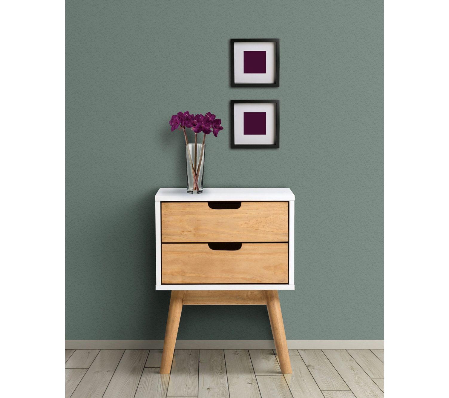 chevet scandinave 2 tiroirs maela bois massif chevet en. Black Bedroom Furniture Sets. Home Design Ideas
