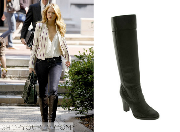 Gossip Girl: Season 2 Episode 6 Serena's Black Knee High Boots ...