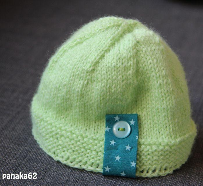 tuto bonnet naissance tricot gratuit