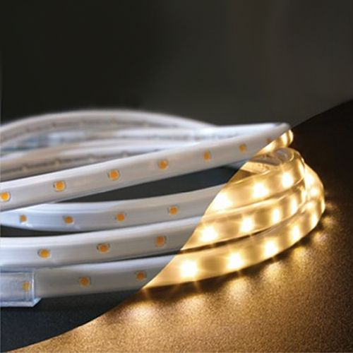 led rope light kit in warm white color temperature 3 3 feet long