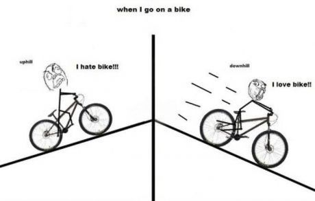When I Ride A Bike Going Uphill Vs Going Downhill Downhill