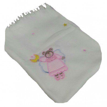 7e839d03c Zapatillas · Verano · Toda la dulzura en esta manta polar para bebé en  color crudo con dibujo de osita