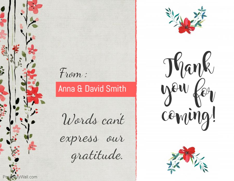 Thank You Greeting Ecard Template Thank You Card Template Free Printable Card Templates Card Templates