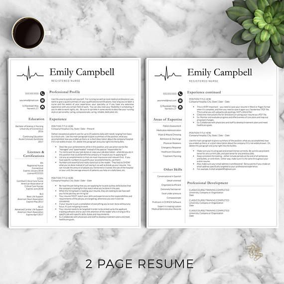 Stand out with this Nurse Resume Template for Word  Pages Whether