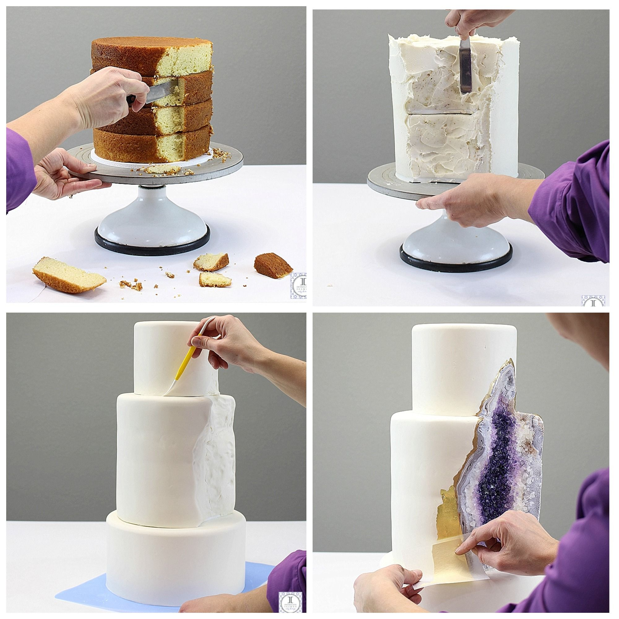 How to Make a Geode Cake | Pinterest | Geode cake, Cake and Amethysts