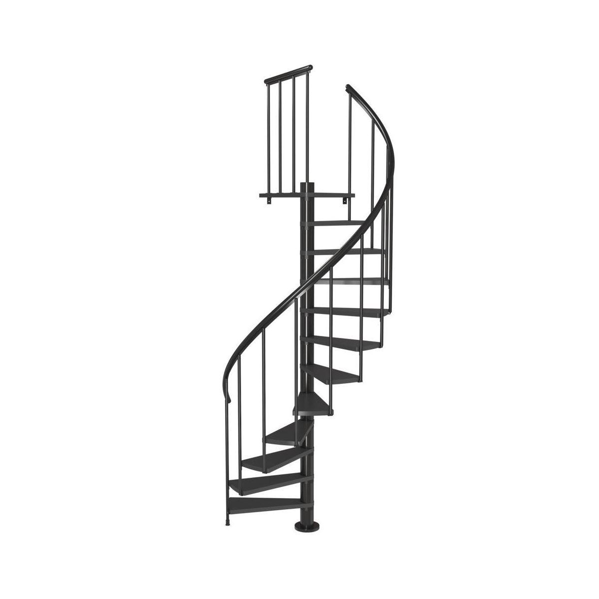 Schody Spiralne Calgary Antracytowe Dolle Spiral Staircase Spiral Stairs Spiral Staircase Kits