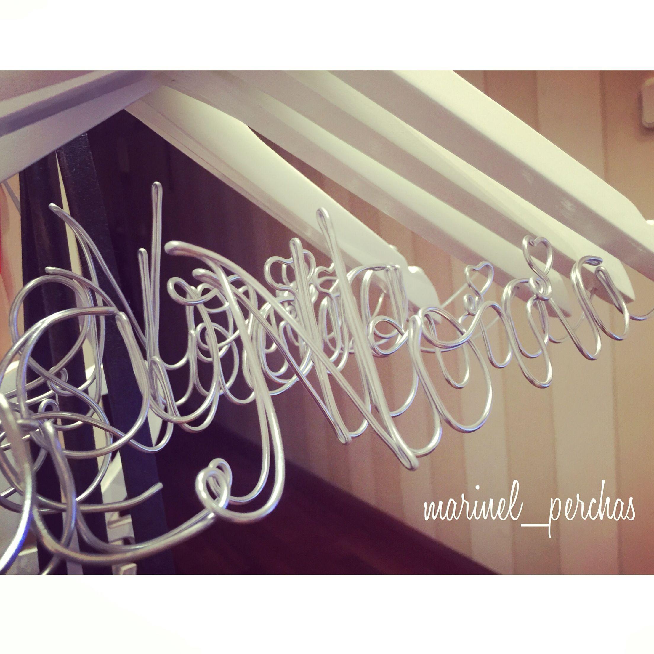 Perchas Personalizadas Para Novias Perchas Novia Pinterest  ~ Perchas Personalizadas Para Tiendas