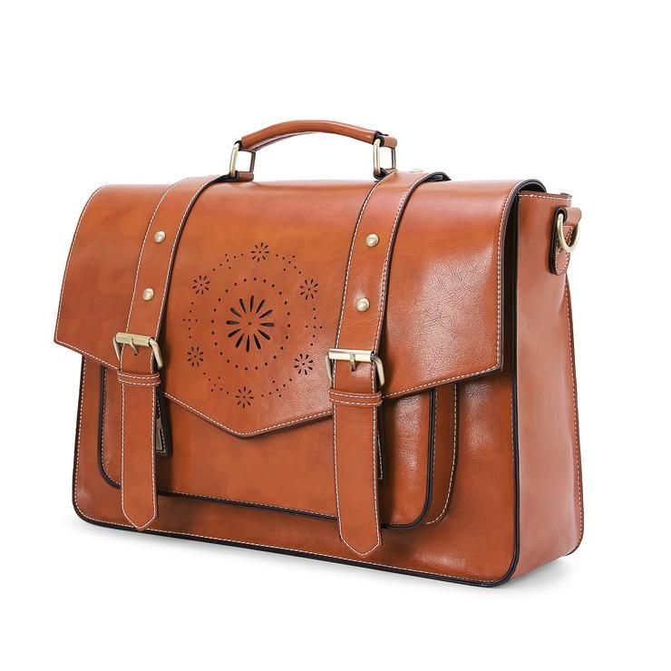 ECOSUSI Faux leather Classic Big Briefcase | Womens Briefcase