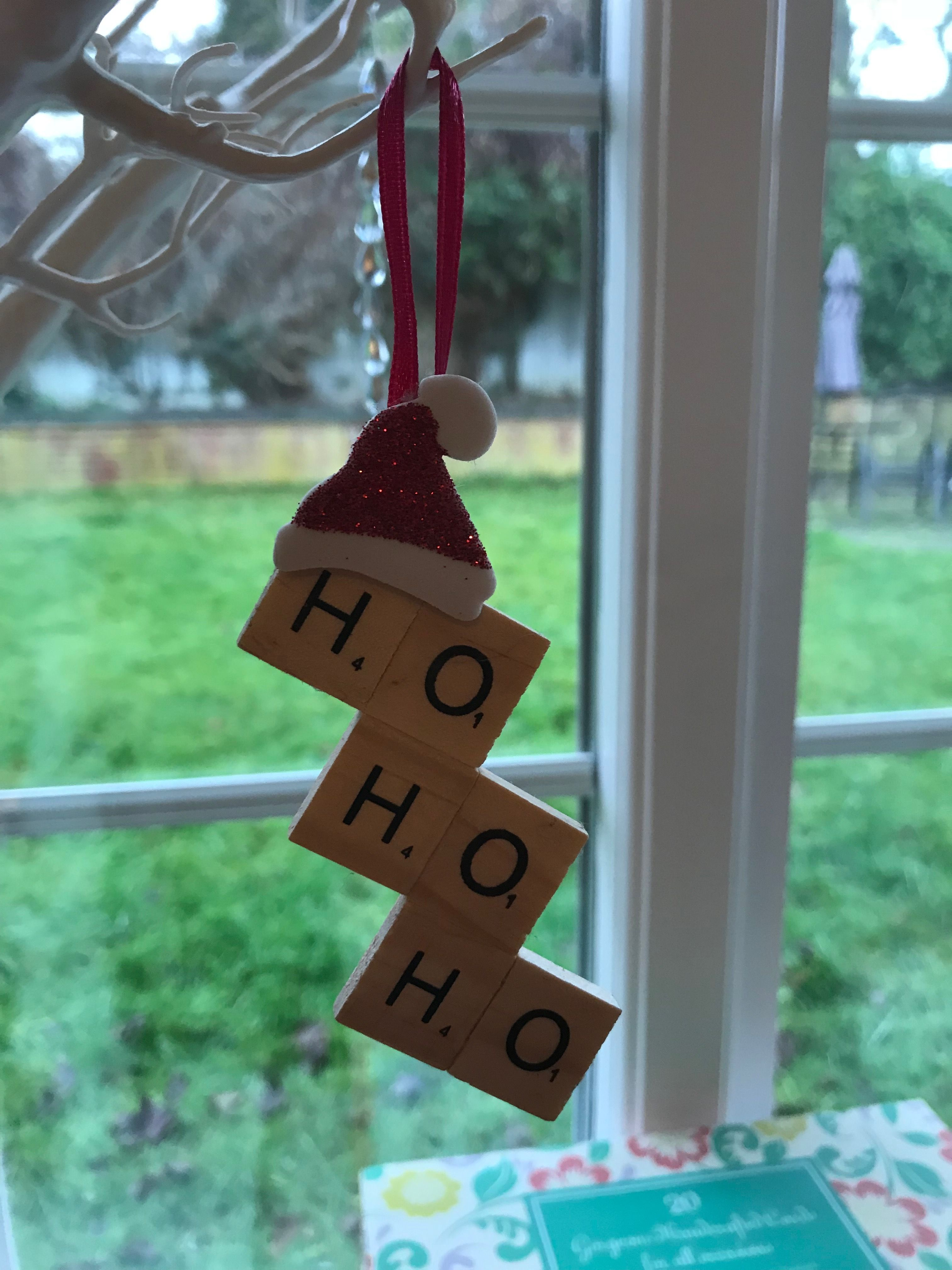 Scrabble Letters Christmas Tree Decoration