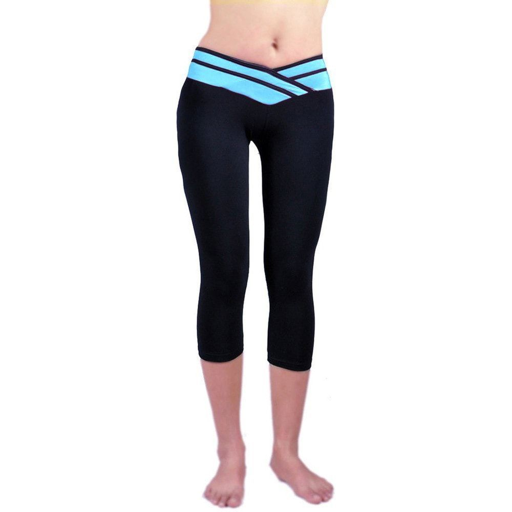 Ladies Yoga Pants Sport Fitness Night Running Sportswear Tights Quick Drying Compression Trousers Gym Slim Legging