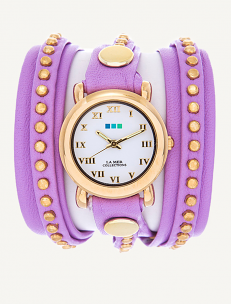 Lavender Gold Bali Wrap Watch