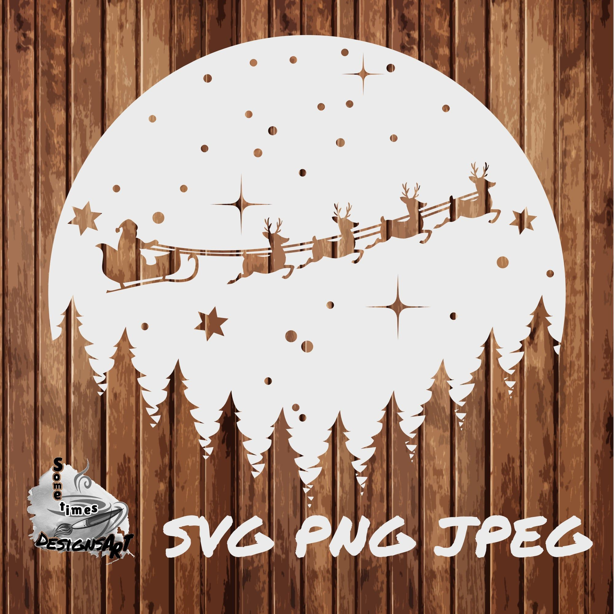 Santa frosty the snowman Christmas Magic cut file Png christmas cutting Sihouette Cameo Vector hand lettered Dxf Cricut SVG