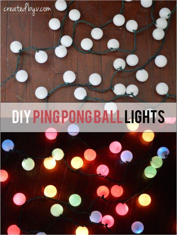 Decorative Light Balls Diy Ping Pong Ball Lights  Ball Lights Patio Lighting And
