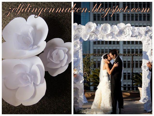 Zelf Dingen Maken : Zelf dingen maken bloemen van papier diy bloemenboog bruiloft