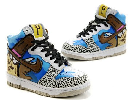 Nike Dunk High Customs Flickr Faces Laces Exhibition Shoes  29fa6a13d