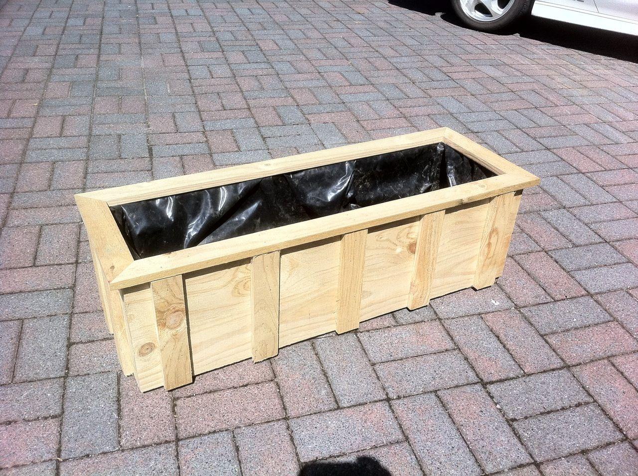 Long Deck Planter Deck Planters Build Outdoor Furniture Diy Planter Box