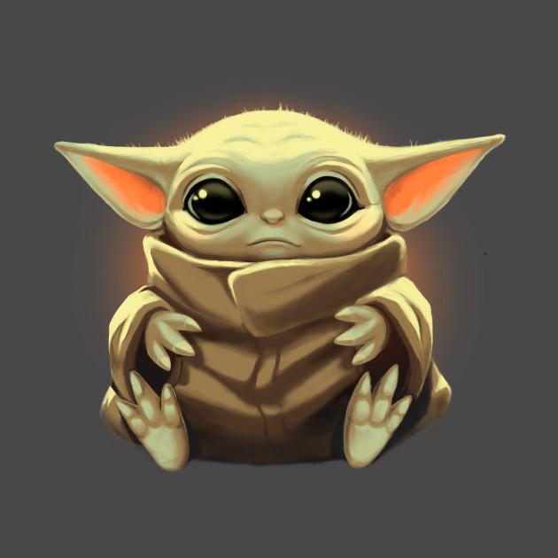 The kid – Baby Yoda T-Shirt by Blanca Vidal – The