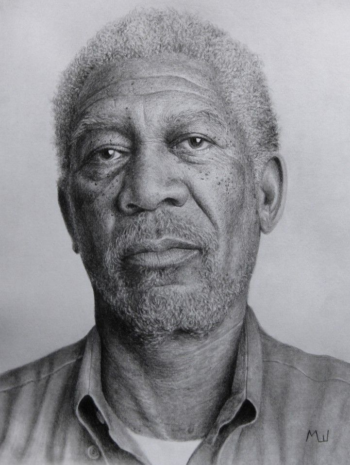 pencil portrait of morgan freeman pencil drawing realistic morganfreeman