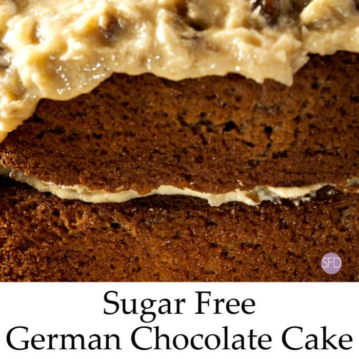 Sugar Free German Chocolate Cake - THE SUGAR FREE DIVA #sugarfree