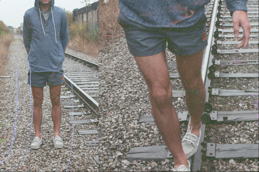 Muttonhead s/s 2012 Lifestyle Shots. Camping Hoodie and Gym Shorts.