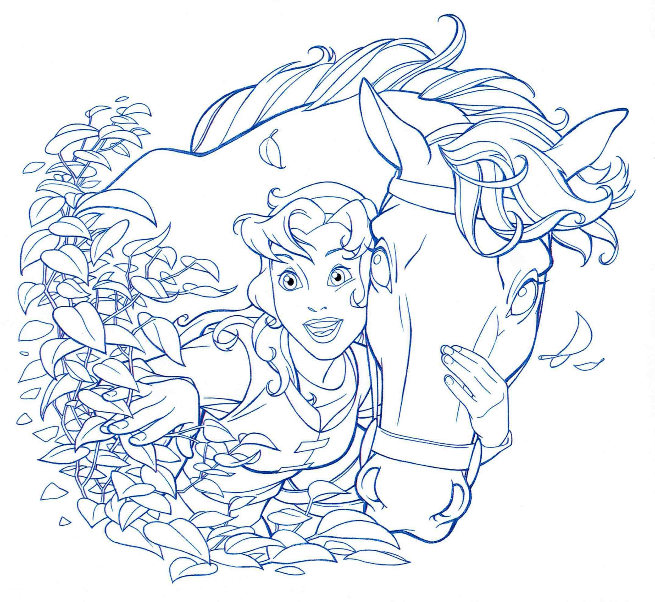 Peek A Boo By Jerome K Moore Horse Coloring Pages Cute Disney Drawings Quest For Camelot