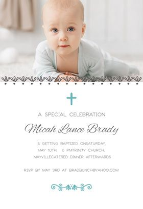 Blue Accents   Free Printable Baptism U0026 Christening Invitation Template |  Greetings Island