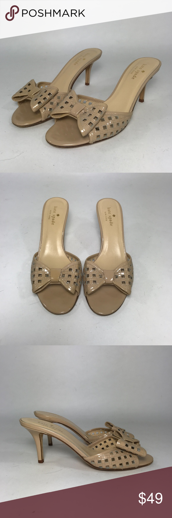 Kate Spade Beige Pantent Leather Bow Sandals Sz7.5 Website - WWW.THECHICAGOCONSIGNMENT.COM  Instagram - @CHICAGOCONSIGNMENT  Condition -VERY GOOD  Brand -KATE SPADE  SKU -469-AIS  Retail Price -$299   Size -7.5  Fit -REGULAR  Material -PATENT LEATHER  Heel Height3  Color -BEIGE  Stretch -  Ankle -   Add'l Info. -  Note - NO TRANSACTIONS OFF POSH.  WE BUNDLE DISCOUNT AND ACCEPT REASONABLE OFFERS.  THANK YOU!!! kate spade Shoes Sandals