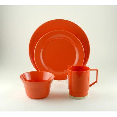 Galleyware Company Melamine 24 Piece Dinnerware Set, Service for 6 ...
