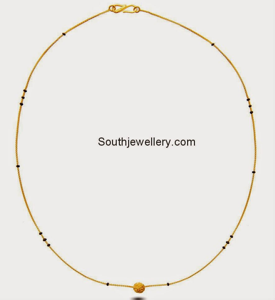 simple short black beads chains | Indian Jewelry | Pinterest ...
