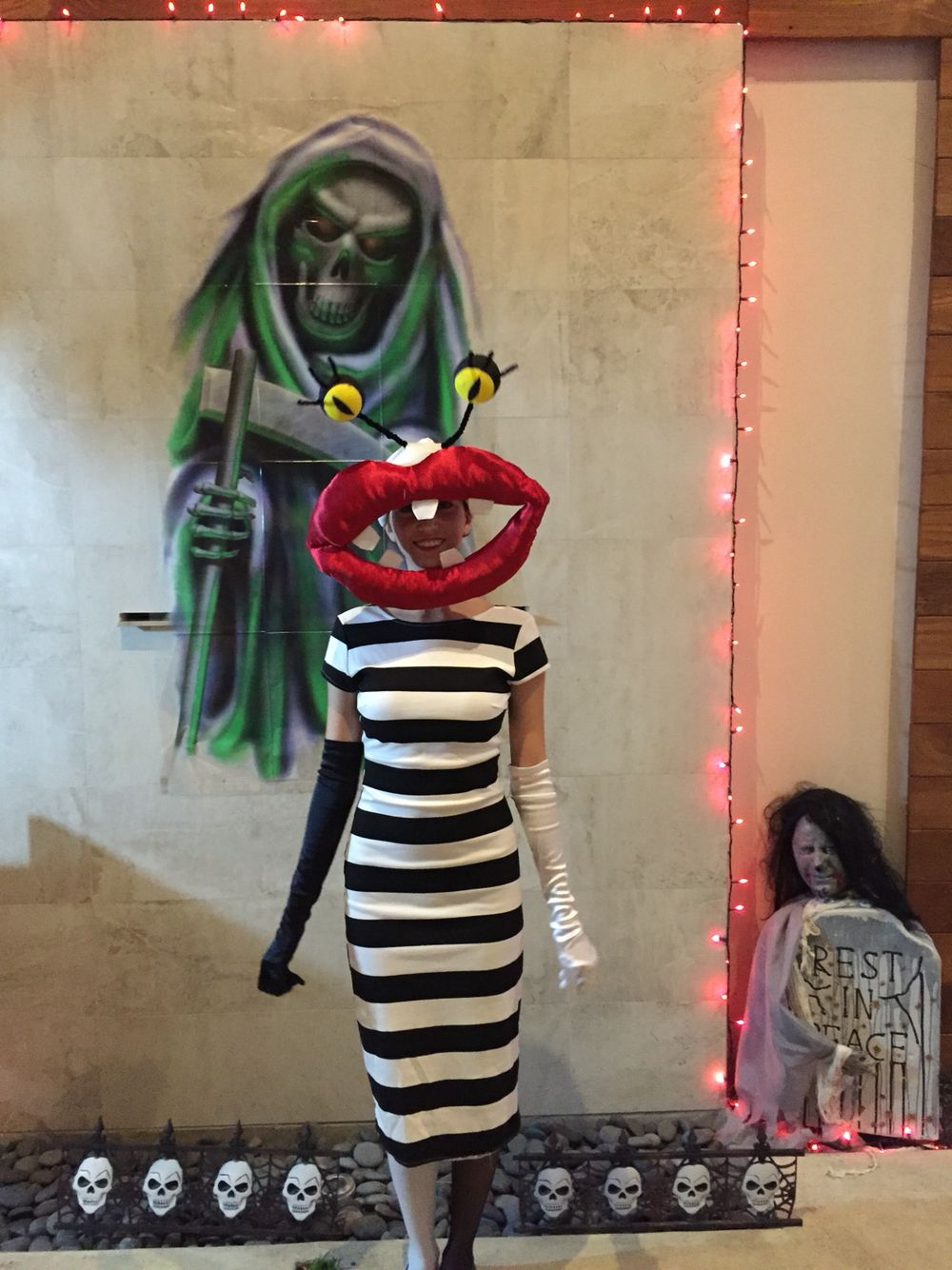 I Dressed Up As Oblina From Aaahh Real Monsters This Year I