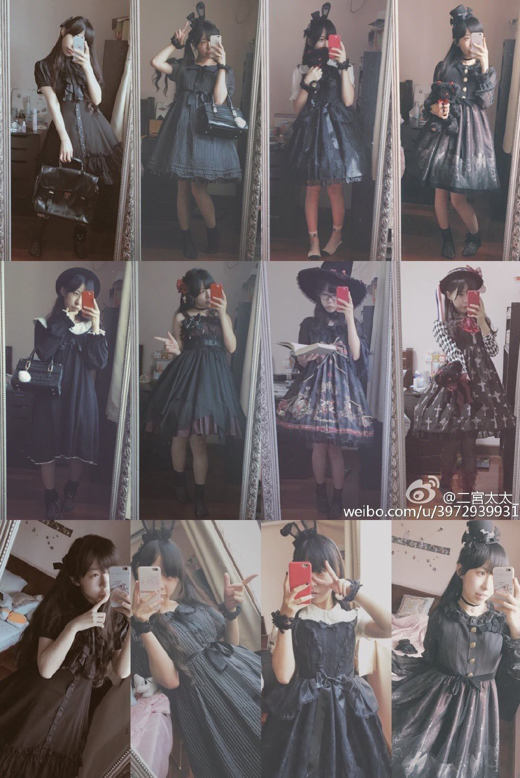 Take some photos wearing all of the Lolita dresses you've received in 2016, you will surely surprise yourself