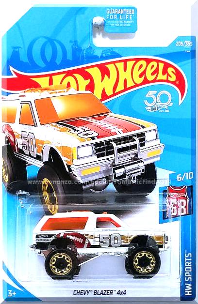 Hot Wheels 2018 #205//365 Chevy Blazer 4x4 White HW Sports