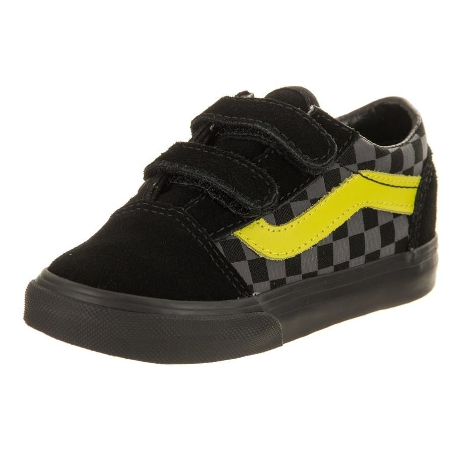 7e8dd9fd55 Vans Toddlers Old Skool V (Checkerboard) Skate Shoe