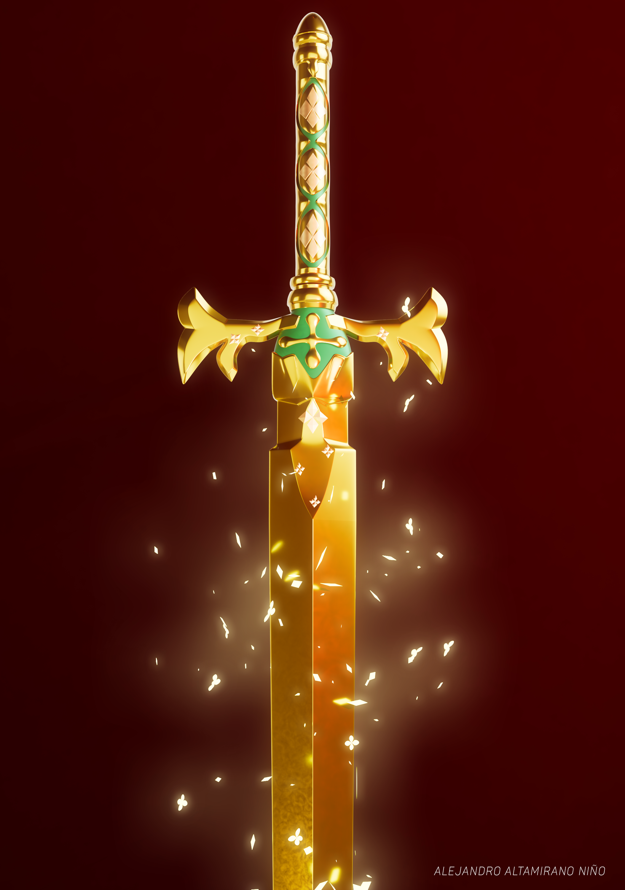 Alice Synthesis Thirty's sword made with Autodesk Maya 2018