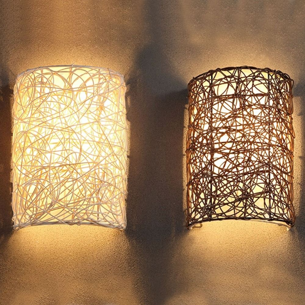 IKEA Nordic Hand Knitted Vine Wall Sconce Home Decorative Wall Light ...