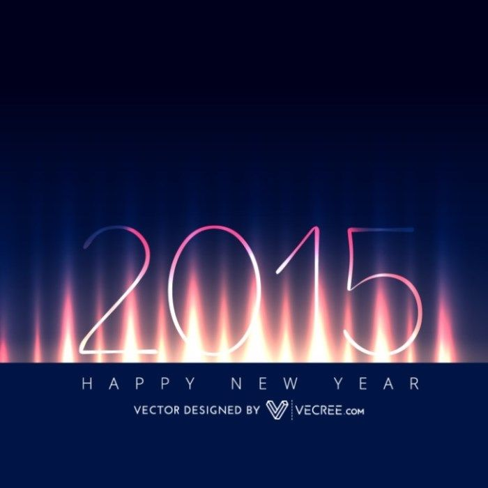 creative new year card free vector