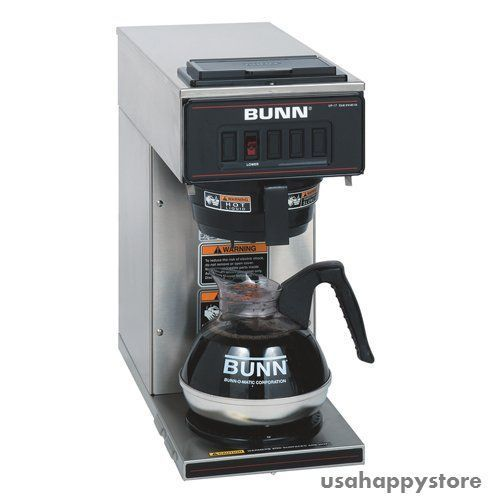Bunn Commercial Coffee Brewer Warmer Machine Maker Stainless Steel Portable New