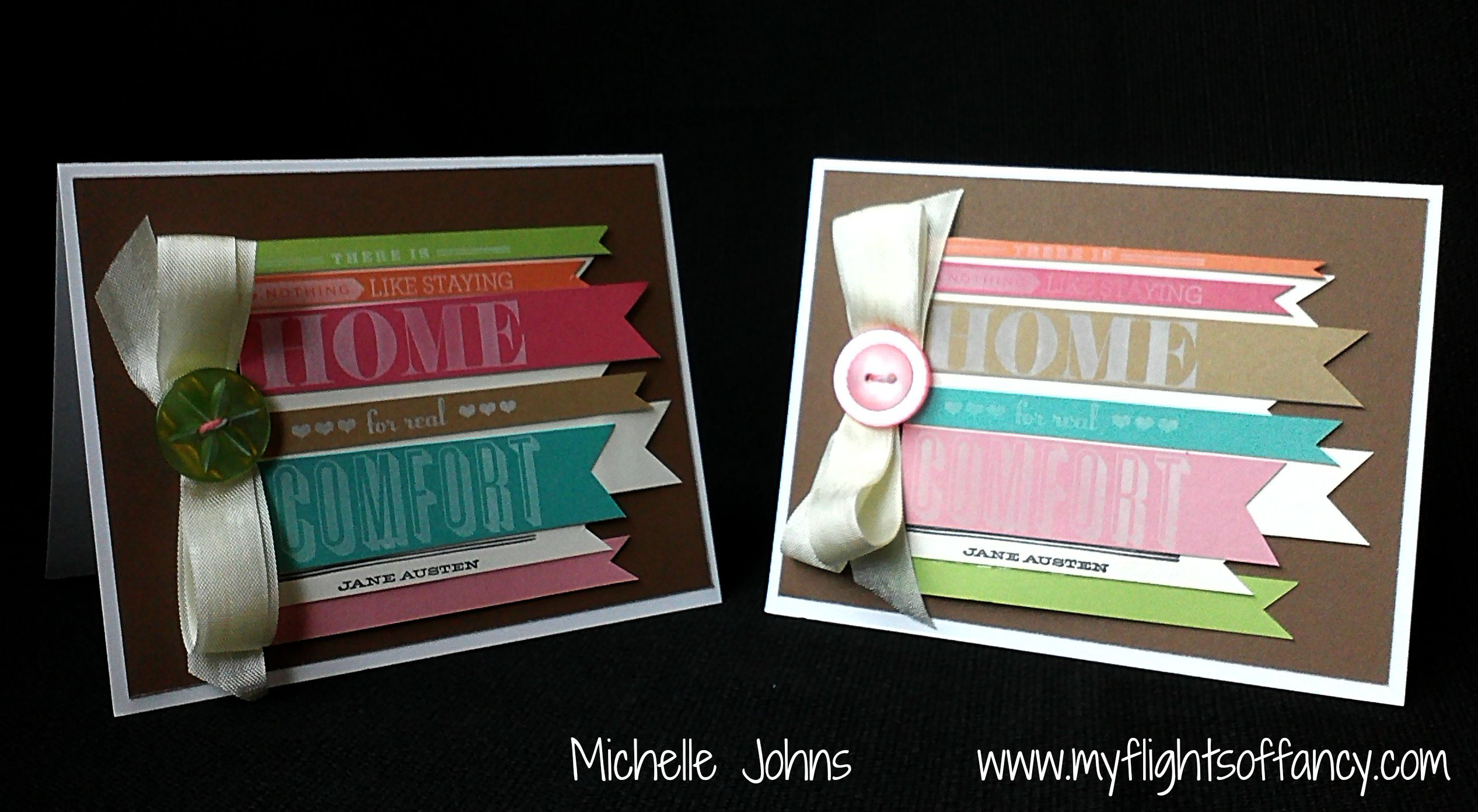 February Blog Hop ~ Home Sweet Home ~ | My Flights of Fancy - Like this technique