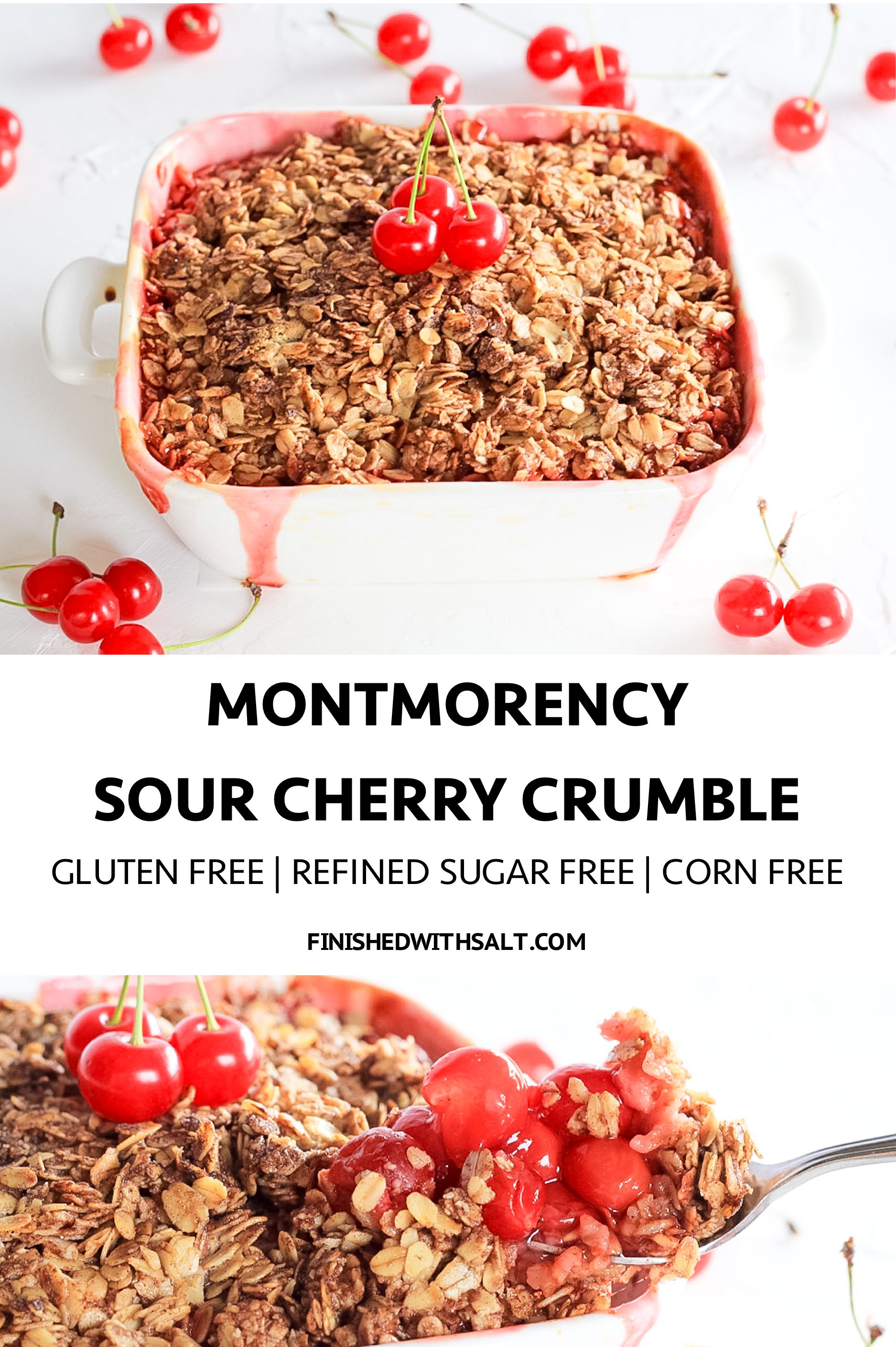 Montmorency Sour Cherry Crumble Tart and juicy Montmorency cherries make the best Sour Cherry Crumble! |