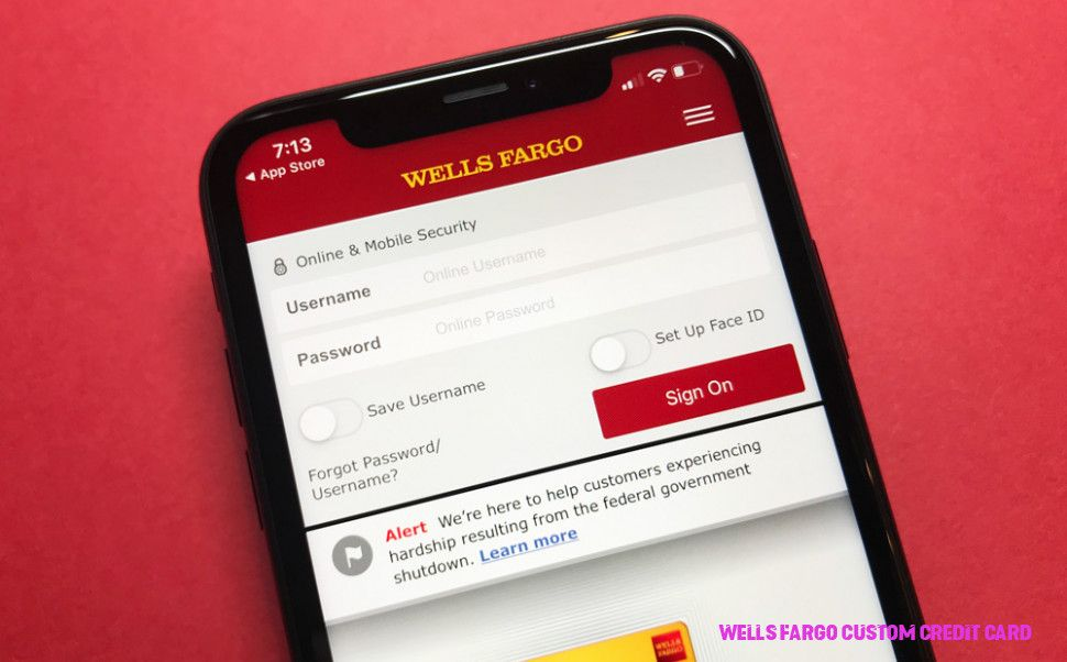 wells fargo order new card design