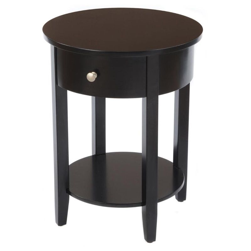 Round Side Tables For Living Room Side Table With Drawer Round Side Table Black Side Table