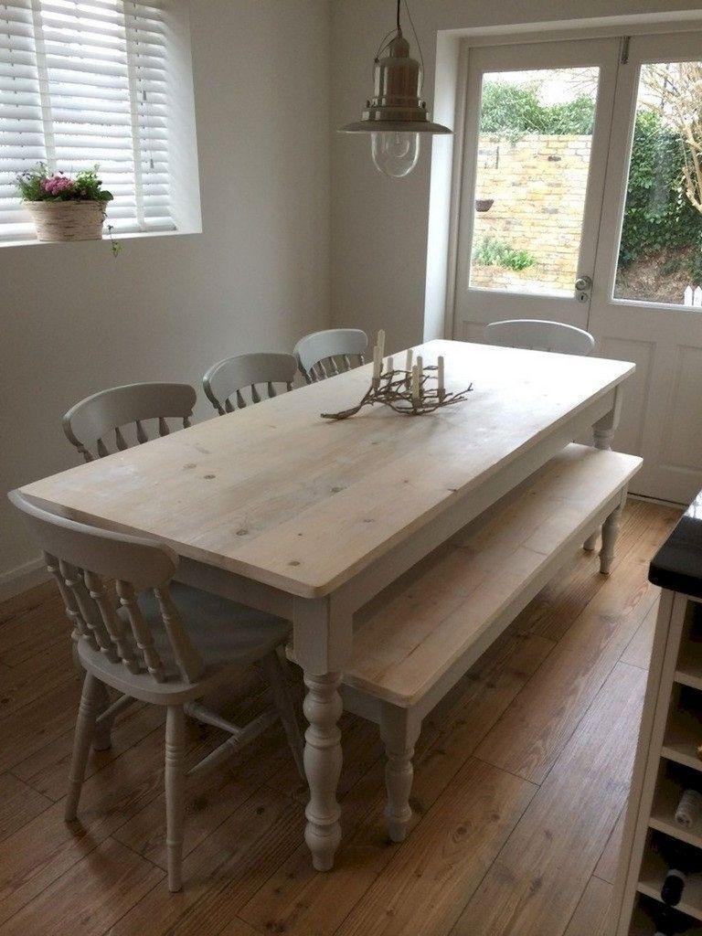 40+ Farmhouse narrow dining table inspiration