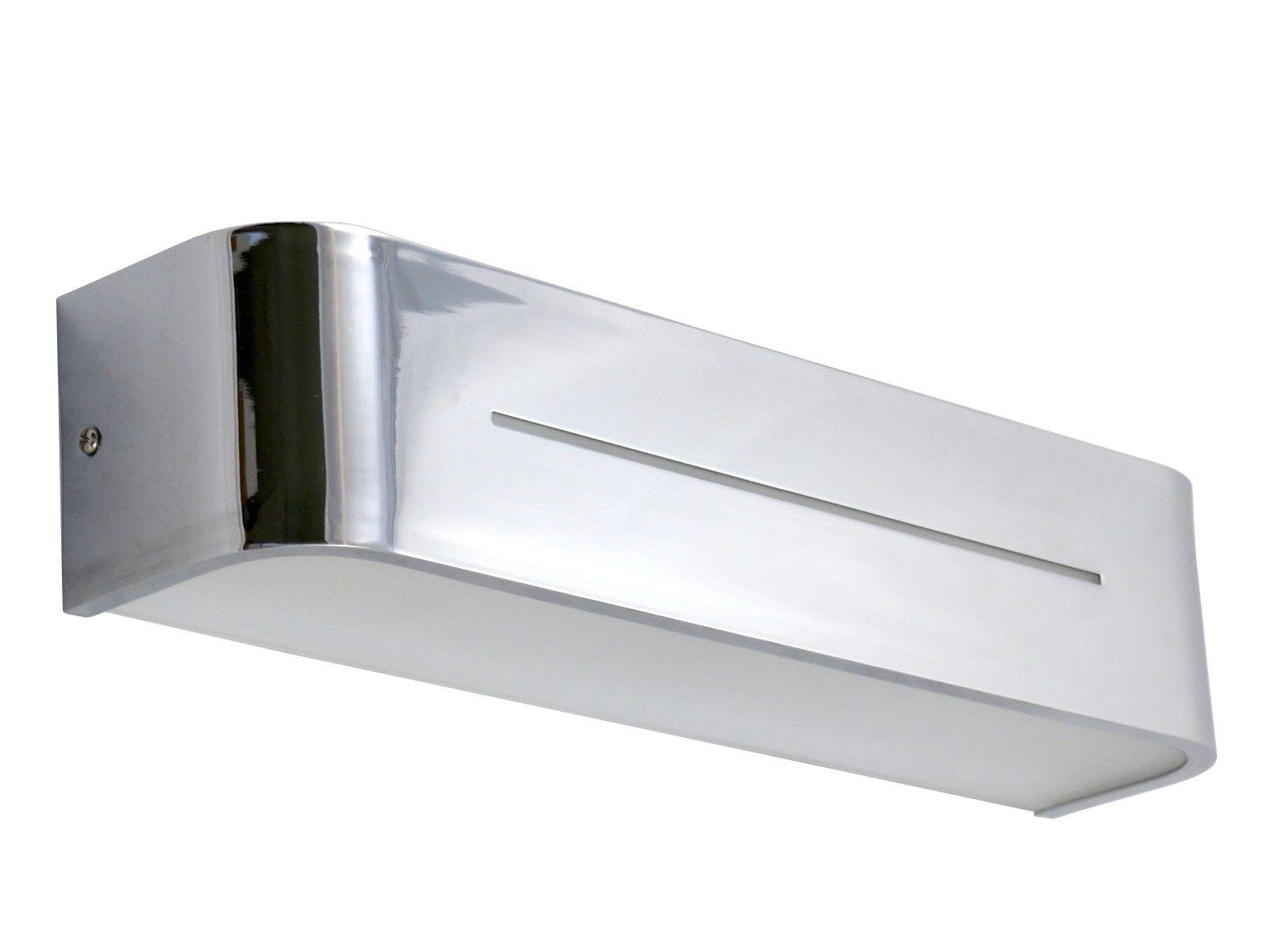 Applique moderno in alluminio cromato luci e max w cadauna