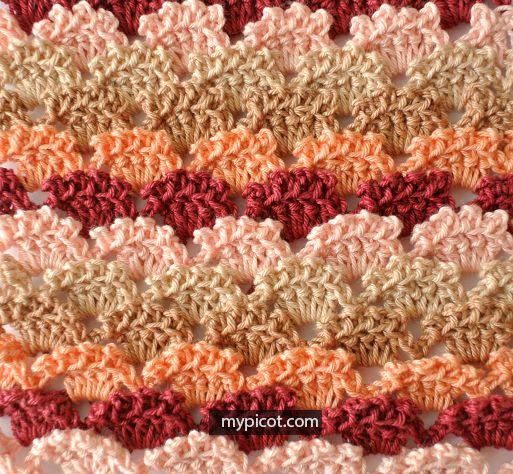 MyPicot   Free crochet patterns   puntos piña a crochet   Pinterest ...