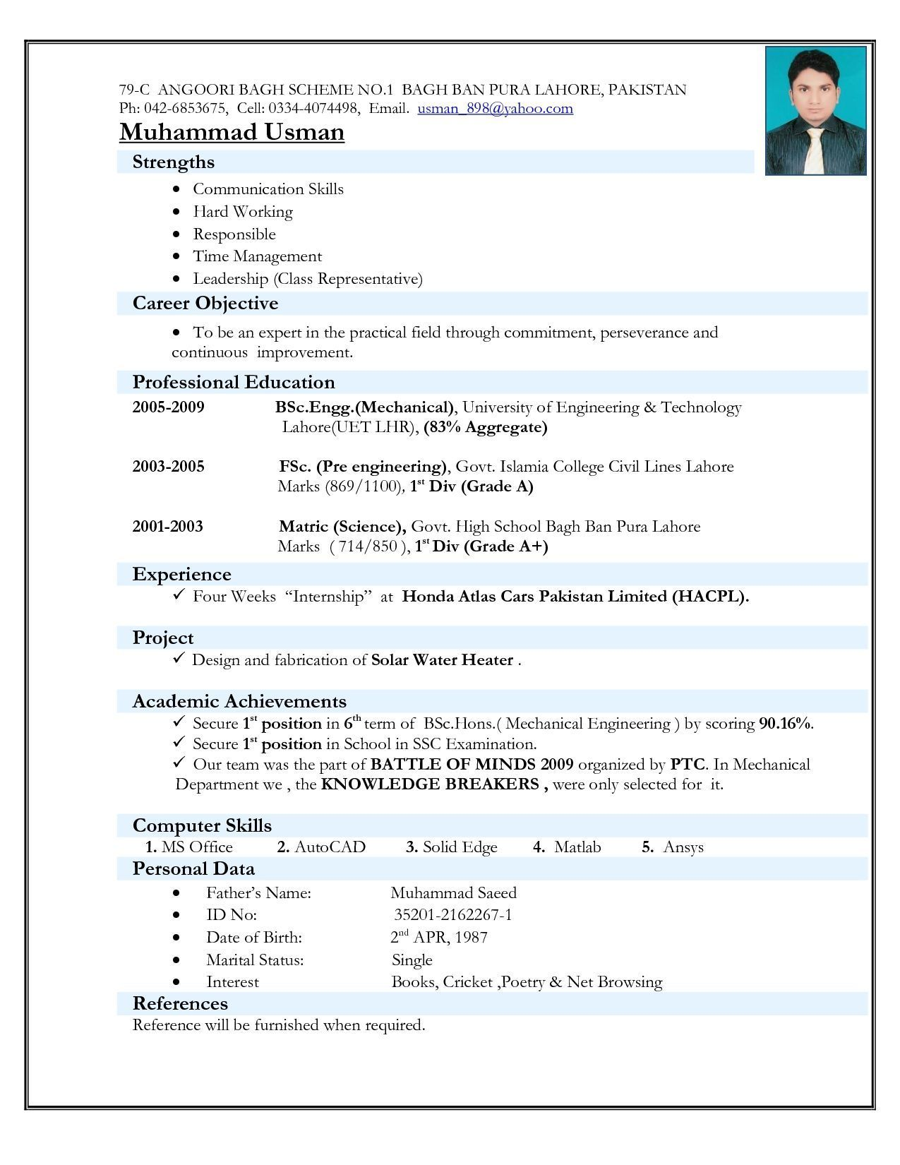 Top 5 Resume Formats For Freshers Resume Format Download Job Resume Format Best Resume Format