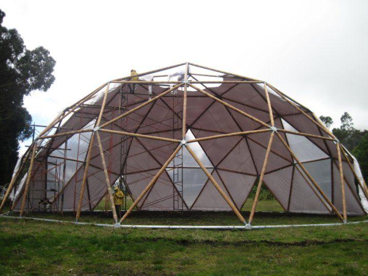 bamboo dome structure domes pinterest d me g od sique plans de maison et c line. Black Bedroom Furniture Sets. Home Design Ideas